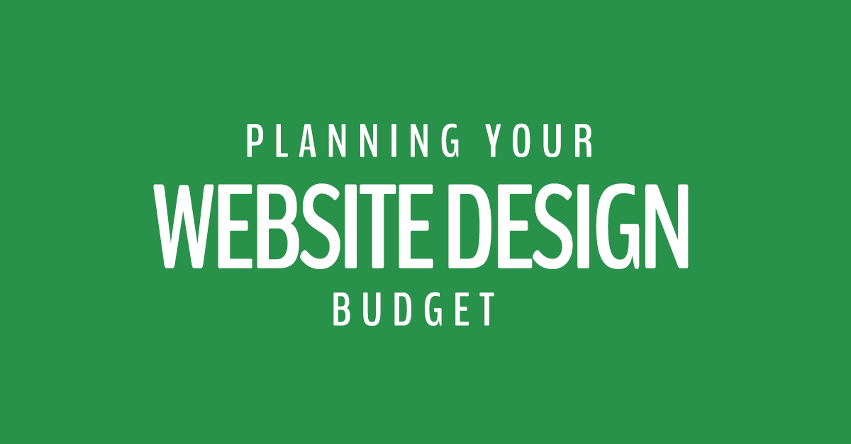 website design budget